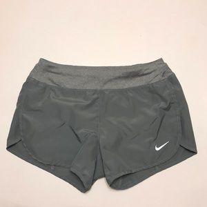 Nike Girls Dry Running Shorts Gray Size Medium